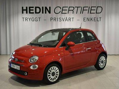 begagnad Fiat 500 LOUNGE 1.2 69HK Glastak