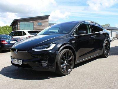 begagnad Tesla Model X 90D Momsbil/Leasbar 7-SITS Supercharger Premium Luftfjädring Sub