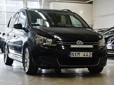 begagnad VW Touran 2.0 TDI Vinter 7-sits Drag 140hk