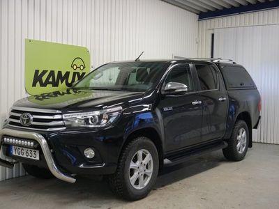 begagnad Toyota HiLux 2.4 D 4WD   Kåpa   Dubbelhytt   Skinn   (150hk)