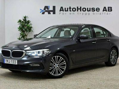 begagnad BMW 520 d xDrive Sedan Sport Line Skinn Värmare GPS Drag H&K