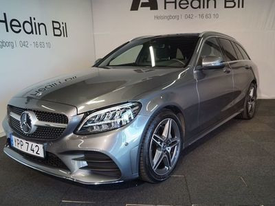 begagnad Mercedes C220 D AMG / Panorama