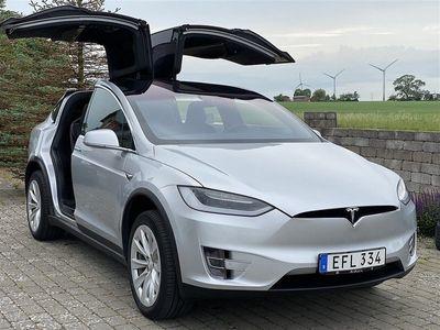begagnad Tesla Model X 75D 333Hk 6sits, Autopilot2, Luftfjädring