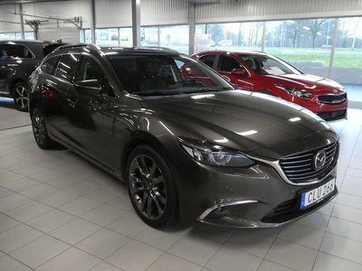 begagnad Mazda 6 2.2 DE Optimum 175 hk Svart skinnkläd