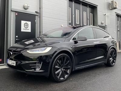"begagnad Tesla Model X 75D AWD 6-Sits AP 22"""