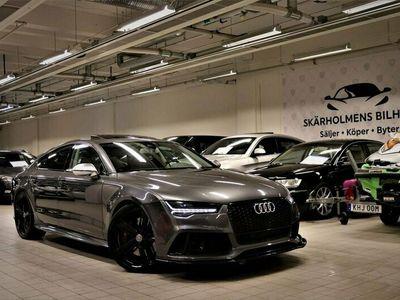 begagnad Audi RS7 4.0TFSI 560HK MATRIX SVART OPTIK MILLTEK TAKLUCKA