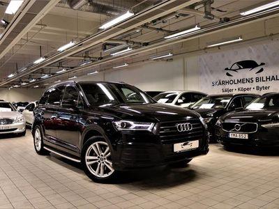 begagnad Audi Q7 3.0 TDI 7-SITS BLACK OPTIK S-LINE SV-SÅLD 3-ÄGARE