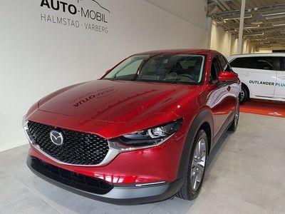 begagnad Mazda CX-30 2,0 M hybrid Cosmo 180 hk AWD Aut Svart skinn