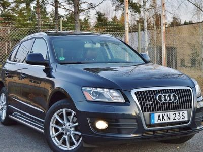 begagnad Audi Q5 2,0T Quattro Panorama Skinn GPS Xenon -12
