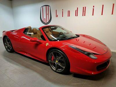 begagnad Ferrari 458 Spider 4.5 V8 DCT 570hk Nyskick!