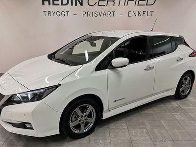 begagnad Nissan Leaf 40 kWh N-Connecta Vinterhjul 1 Ägare 2019, Halvkombi 289 900 kr