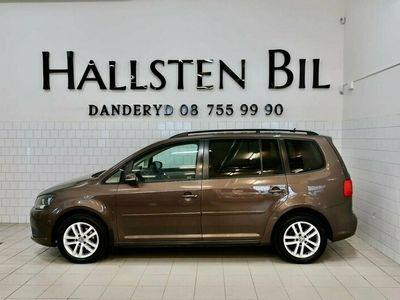 begagnad VW Touran 1.4 TSI Aut 140Hk 7-sits Drag Motorvärmare Svensksåld