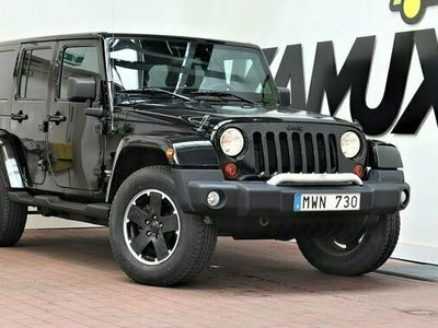 begagnad Jeep Wrangler Unlimited 3.6 V6 4WD Black ED DVD Skinn 2012, SUV Pris 259 000 kr
