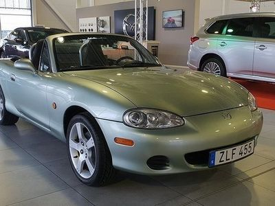 used Mazda MX5 1.6 Softtop, 110hk, Silver Blues Edition