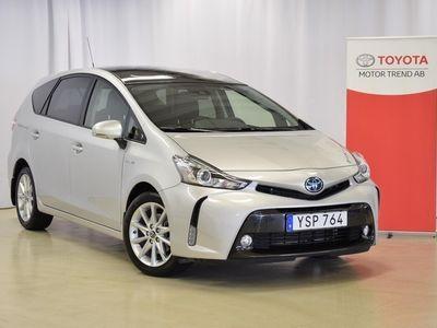 begagnad Toyota Prius+ 1.8 El-hybrid 7-Sits, Skinn, Skyview, S+V-hjul
