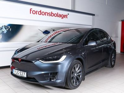 begagnad Tesla Model X 75D AWD 7-Sits AP Drag