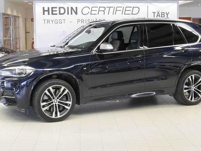 begagnad BMW X5 M50d Nav Panorama Värmare Drag Svart skinnklädsel