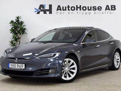 begagnad Tesla Model S 100D Glastak Skinn AP2 Facelift