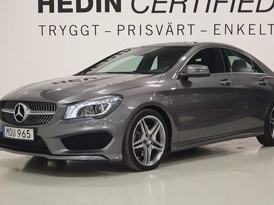 begagnad Mercedes 220 CLA Benzd AMG-Line Panoramatak Fint skick 2015, Sportkupé 269 900 kr