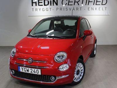 begagnad Fiat 500 1,2 69 HK LOUNGE Glastak P-sensorer bak