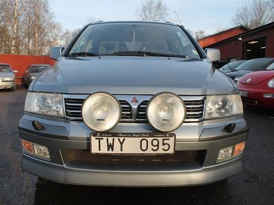 begagnad Mitsubishi Space Wagon 2.4,7Sitsig,0%Ränta,Drag,Nyservad,Besiktigad