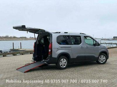 begagnad Peugeot Rifter handikappanpassad Golvsänkt