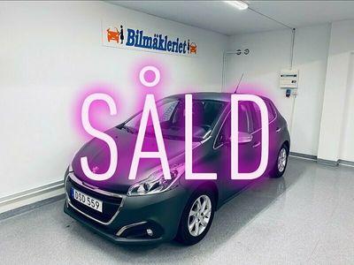 """begagnad Peugeot 208 5-dörrar 1.2 VTi Euro6 82hk """"LÅGMIL"""" 0:- kontant"""
