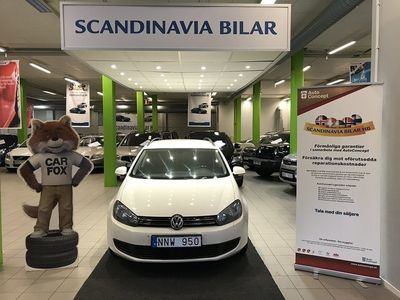 begagnad VW Golf 1.6TDI Automat 105HK Välvårdad