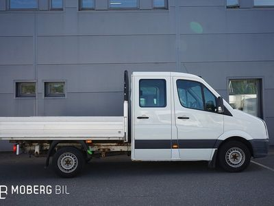 begagnad VW Crafter Chassi Dubbelhytt DH 2.5 TDI Flakbil 6-sits 1150kg Lastvikt