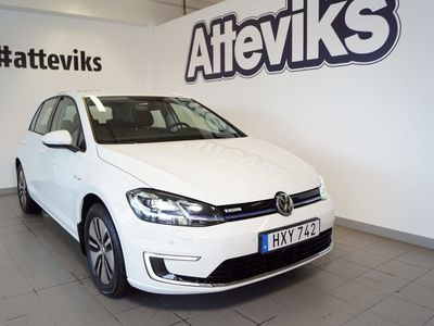 begagnad VW e-Golf 35,8 kWh 136hk Pluspaket Na -18