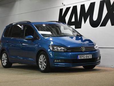 begagnad VW Touran 1.6 TDI Pluspaket 7-sits Navi (115hk)