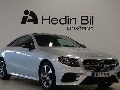 begagnad Mercedes E300 COUPÉ AMG Parkeringsvärmare Head-up Panorama Minnespaket Distronic DEMO