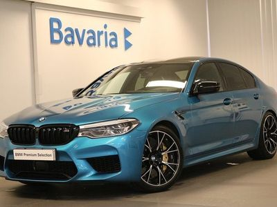 begagnad BMW M5 Competition M drivers pkt package Bowers & wilkin