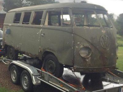 begagnad VW T1 split buss 1955,