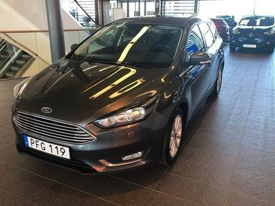 begagnad Ford Focus Kombi 1.0 125 Titanium 2017, Kombi 117 900 kr