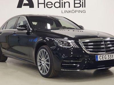 begagnad Mercedes S400 D 4MATIC SEDAN LÅNG AMG Distronic Parkeringsvärmare Exklusivpaket Minnespaket DEMO