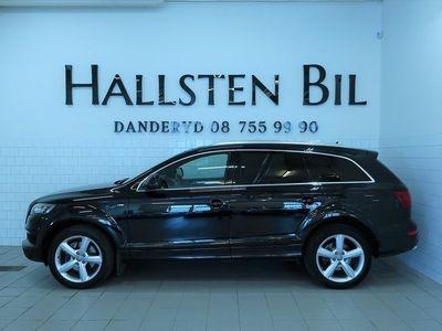 begagnad Audi Q7 3.0 TDI Q 245HK   S-Line   7-sits   Svensksåld