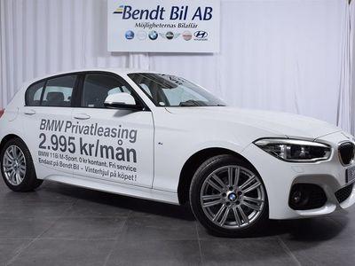 begagnad BMW 118 i M-Sport 2.995:-/Mån inkl. V-hjul