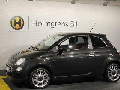 begagnad Fiat 500 1.4 100HK Black Jack, Sportstolar, Röd skinnklädsel