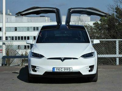 begagnad Tesla Model X 100D Leasbar Autopilot Luftfjädring
