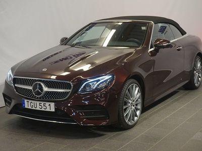 begagnad Mercedes E400 4MATIC Cabriolet 3.0 V6 4MATIC 9G-Tronic Euro 6 333hk