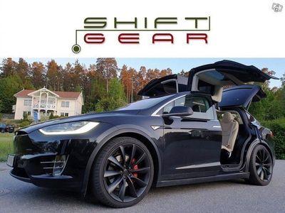 begagnad Tesla Model X P90D+L SIGNATURE 7-sits FULLUTR
