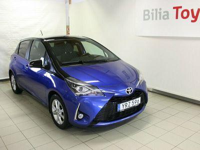 begagnad Toyota Yaris 1,5 Automat BI-TONE PLUS BLUE Dragkrok Vinterhjul