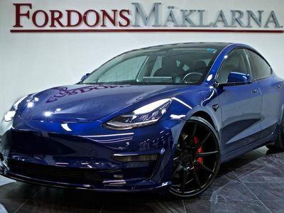 begagnad Tesla Model 3 LONG RANGE PERFOMANCE 483HK AUTOPILOT FRI HEMLEV