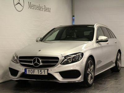 begagnad Mercedes C220 C-klassKombi, AMG Line, Burmester