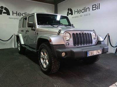 usata Jeep Wrangler Unlimited 2.8 4WD Automat SAHARA 2014, SUV 289 900 kr