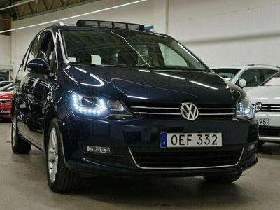 begagnad VW Sharan TDI Premium 7-sits Panorama Värmare Drag 150hk