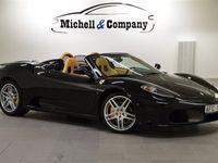 begagnad Ferrari F430 F1 SPIDER 2900MIL NERO SVART 490HK