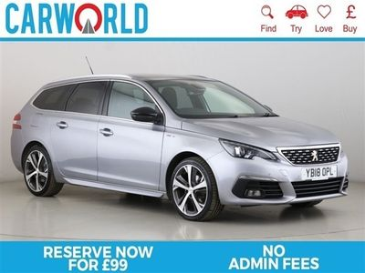 used Peugeot 308 1.5 BLUE HDI S/S SW GT LINE 5d 129 BHP