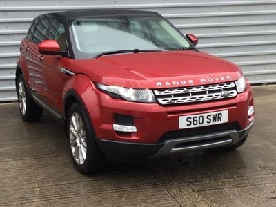 used Land Rover Range Rover evoque 2.2 SD4 Prestige 5dr Auto Red Automatic Diesel